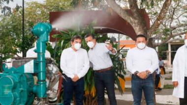 Por lluvias, fumigan Mérida