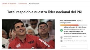 Lanzan campaña de apoyo a Alejandro Moreno tras derrota electoral del PRI