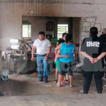Desalojan a familia en la Colonia Los Reyes
