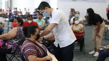 Segunda vacuna anticovid para adultos de Kanasín, Progreso y Valladolid