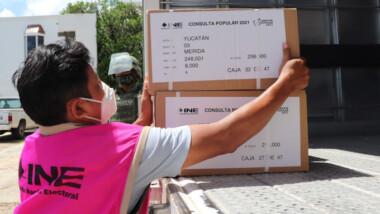Llegan a Yucatán 1.6 millones de boletas para consulta popular