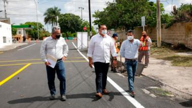 Repavimentan avenida de la Portes Gil