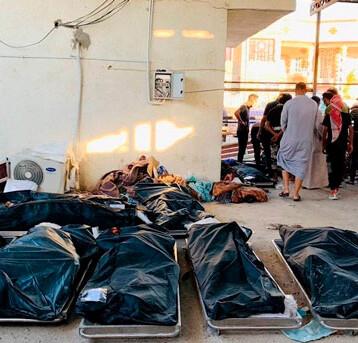 Aumenta a 92 la cifra de muertos por incendio en hospital COVID-19 en Irak