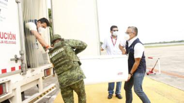 Llegan 134 mil vacunas contra el Coronavirus a Yucatán