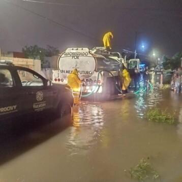 Chapab, Kanasín, Mérida y Opichén, los municipios más afectados por las lluvias
