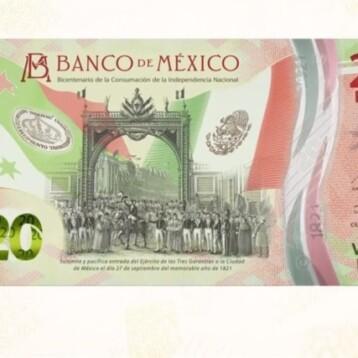 Nuevo billete de 20 pesos: Banxico 'celebra' Consumación de la Independencia