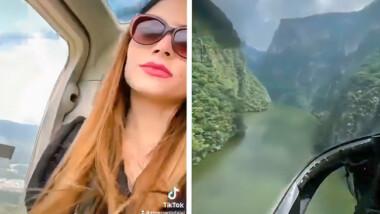 Influencer usa helicópteros oficiales para un video de TikTok; gobierno de Chiapas reclama al IMSS