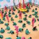 Gran demanda de trajes de 'El juego del calamar' anima al complicado sector textil en Corea del Sur