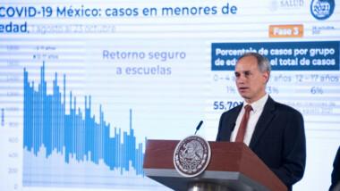La pandemia cumple tercer mes a la baja: hay 1% de casos activos; regreso a clases no ha impactado: López-Gatell