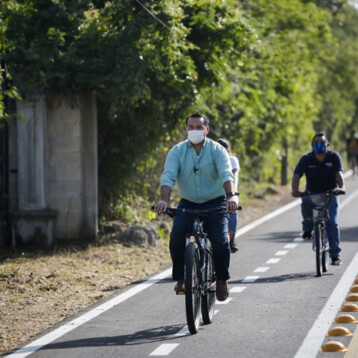 Estrenan ciclovía en el tramo Chablekal-Dzibilchaltún