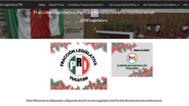 Legisladores del PRI estrenan sitio web